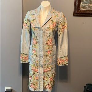 Biya by Johnny Was size 4 silk embroidered jacket